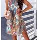 Loose Paisley Mini Dress