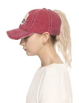 BEach CRAZY Ponytail Hat
