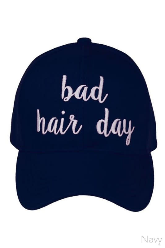 Bad Hair Embroidered Hat