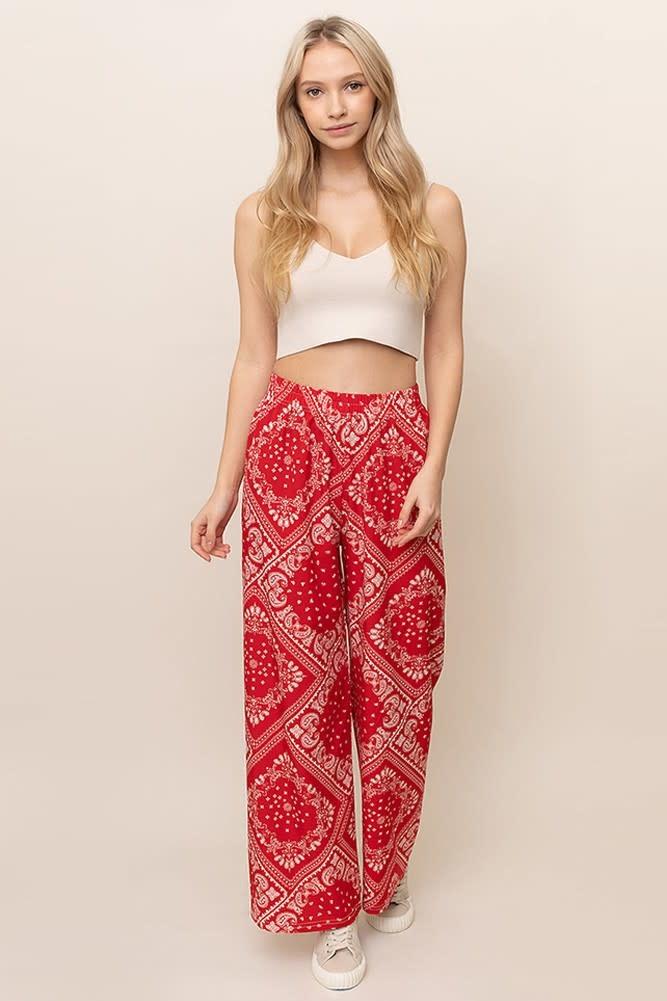 Paisley Print Pants