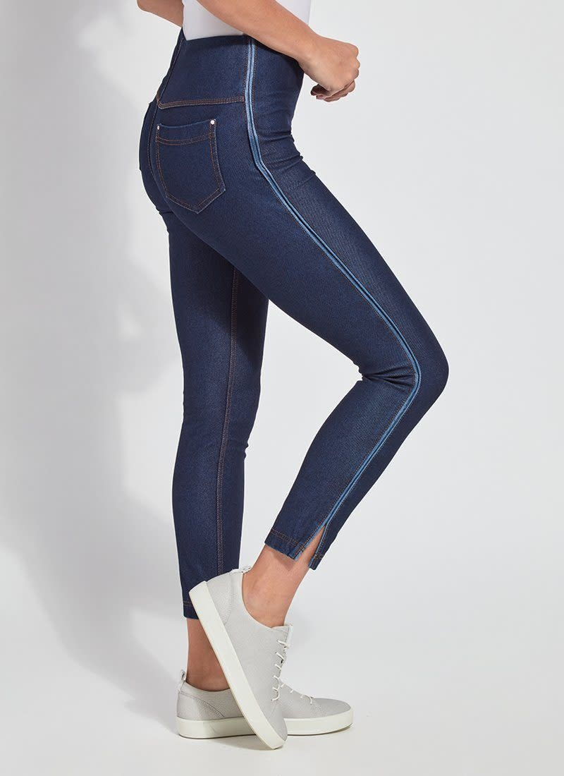Denim Legging with Stripe