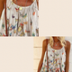 Butterfly Print Loose Fit Tank