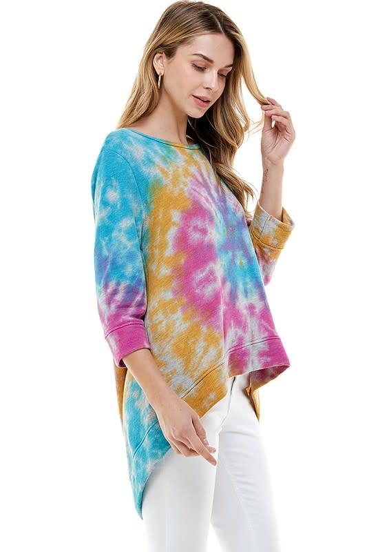 Tie Dye Open Back Pullover