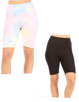 Pinapple Grid Cinched Bike Shorts