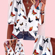 Butterfly Print Loose Top