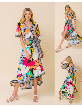 Flutter Sleeve Off Shoulder Dress
