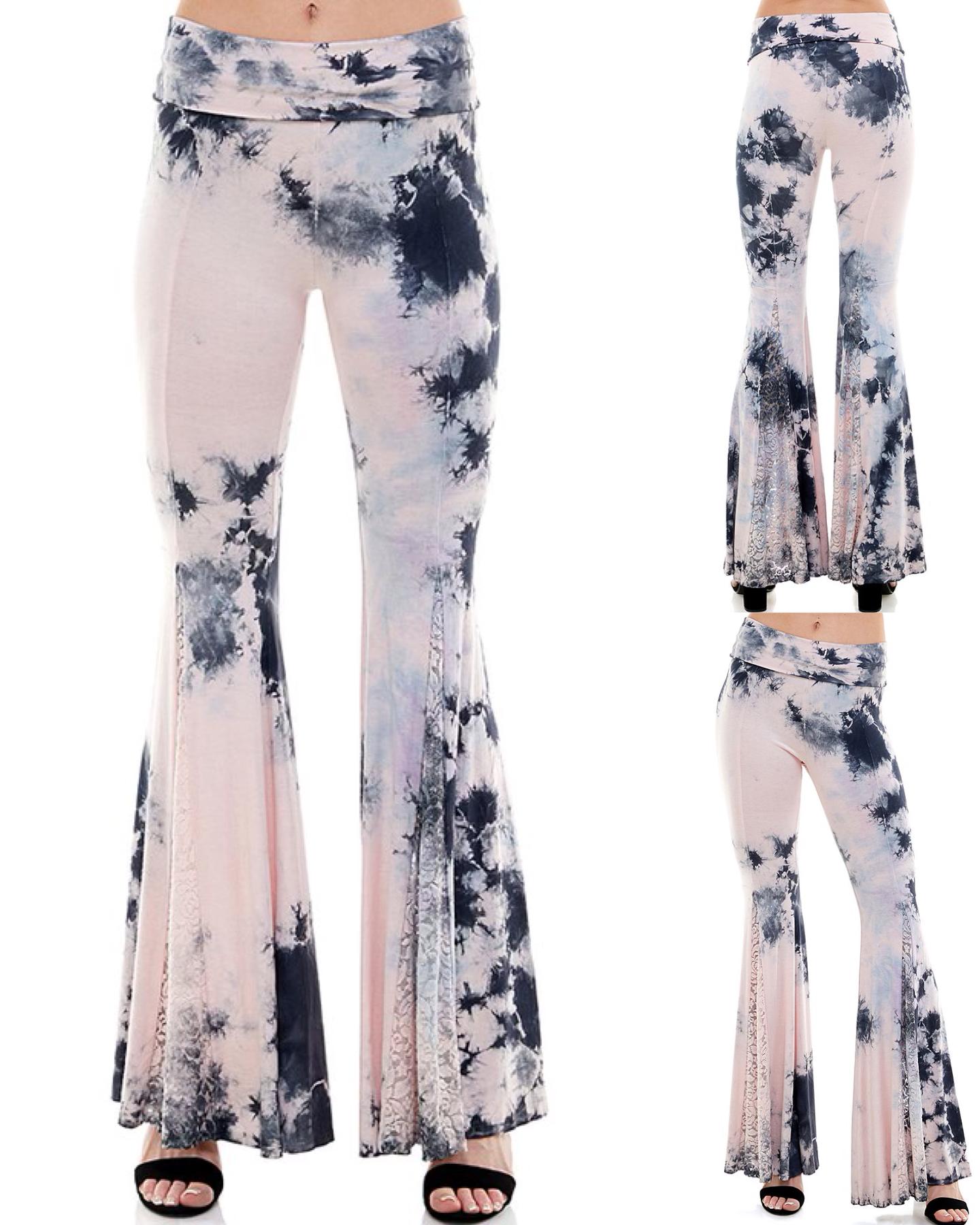Lace Detail Wide Leg Pants