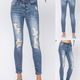 Destroyed Bleached Skinny Jeans