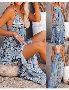 Bandana Print Maxi Dress