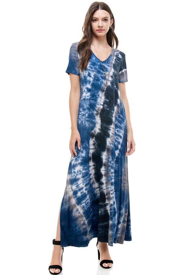 Short Sleeve Tie Dye Dress