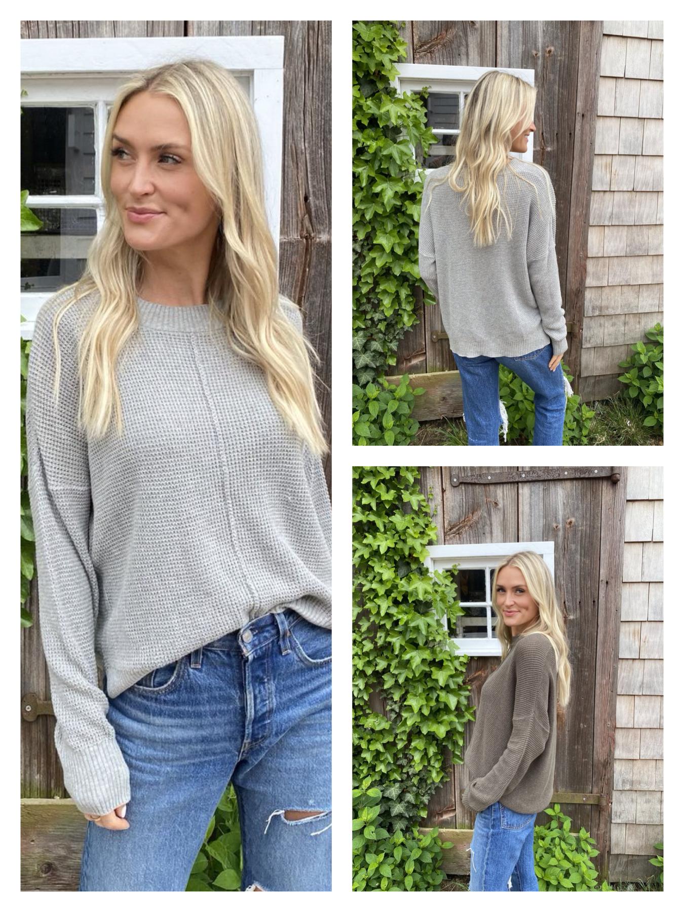 Front Seam Sweater