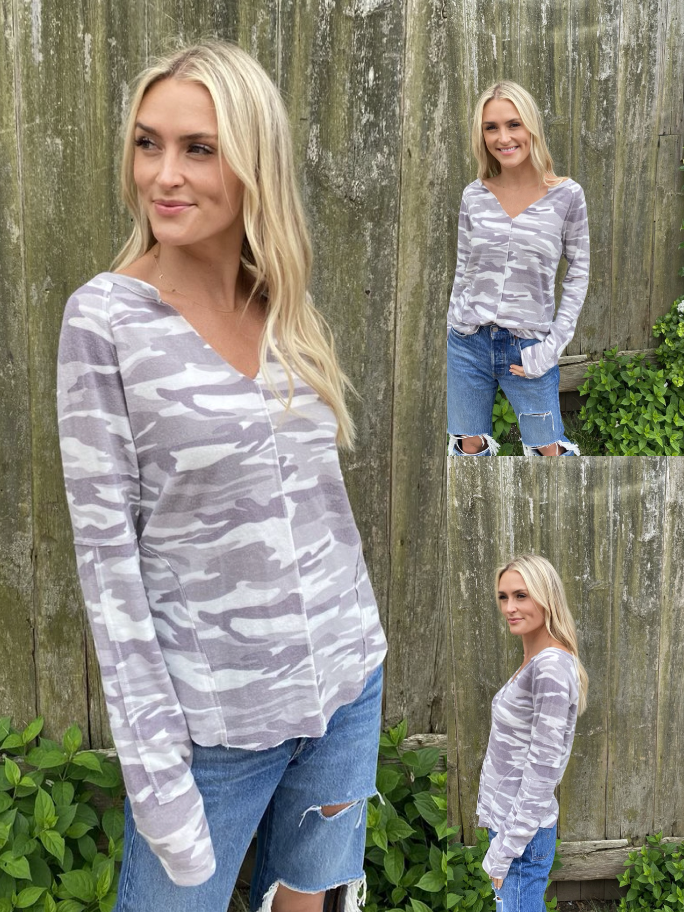 Brushed Camo L/S Top