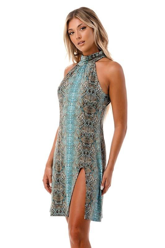 Halter Dress w/ Slit
