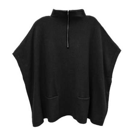 Poncho Sweater with Zip