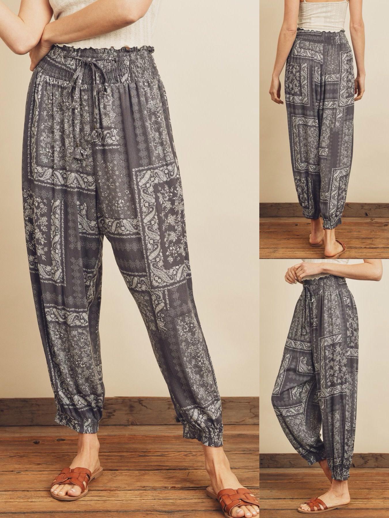 Bandana Print Harem Pants