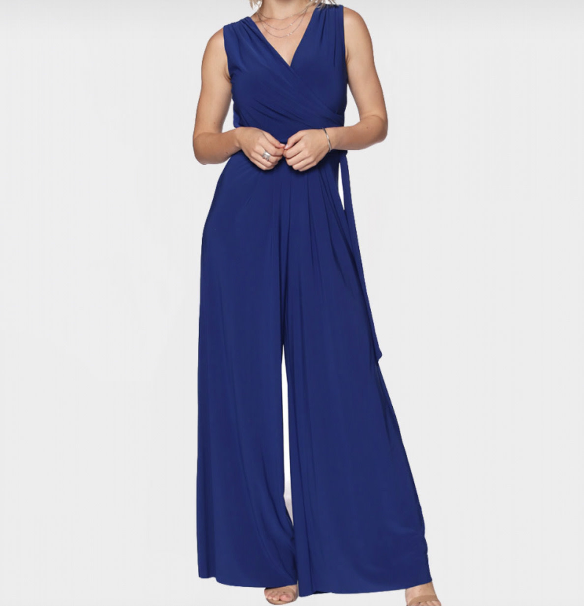 Sleeveless Jumpsuit with Tie