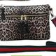 Leopard Print Neoprene Crossbody Bag