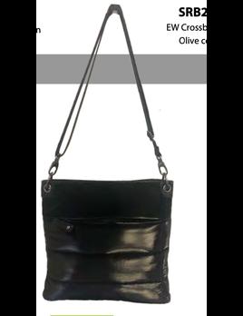 Solid Nylon Crossbody Handbag