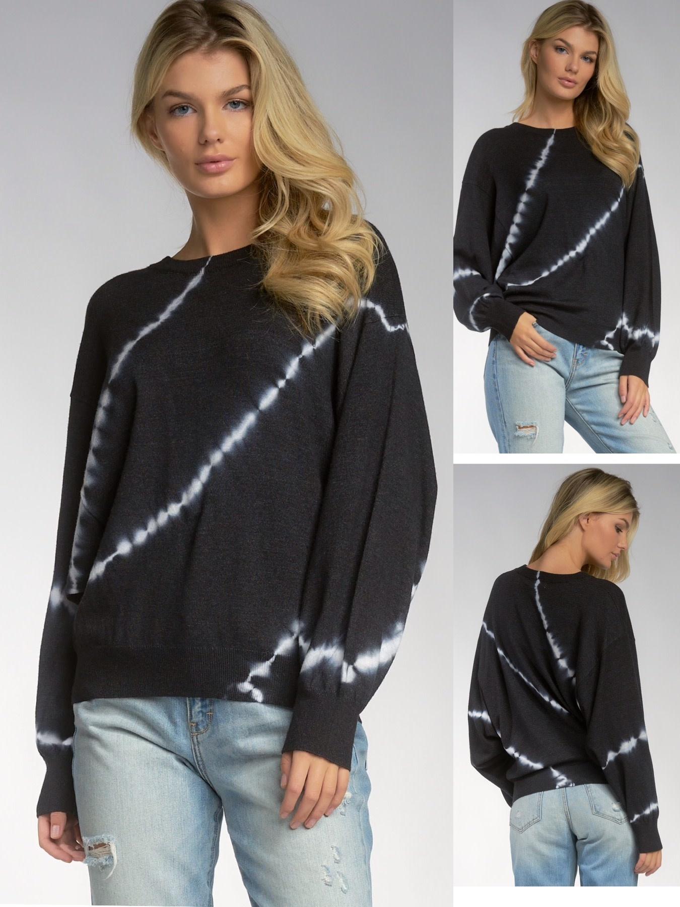 Tie Dye Crew Neck Sweater