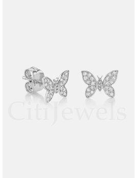 Butterfly CZ Earrings