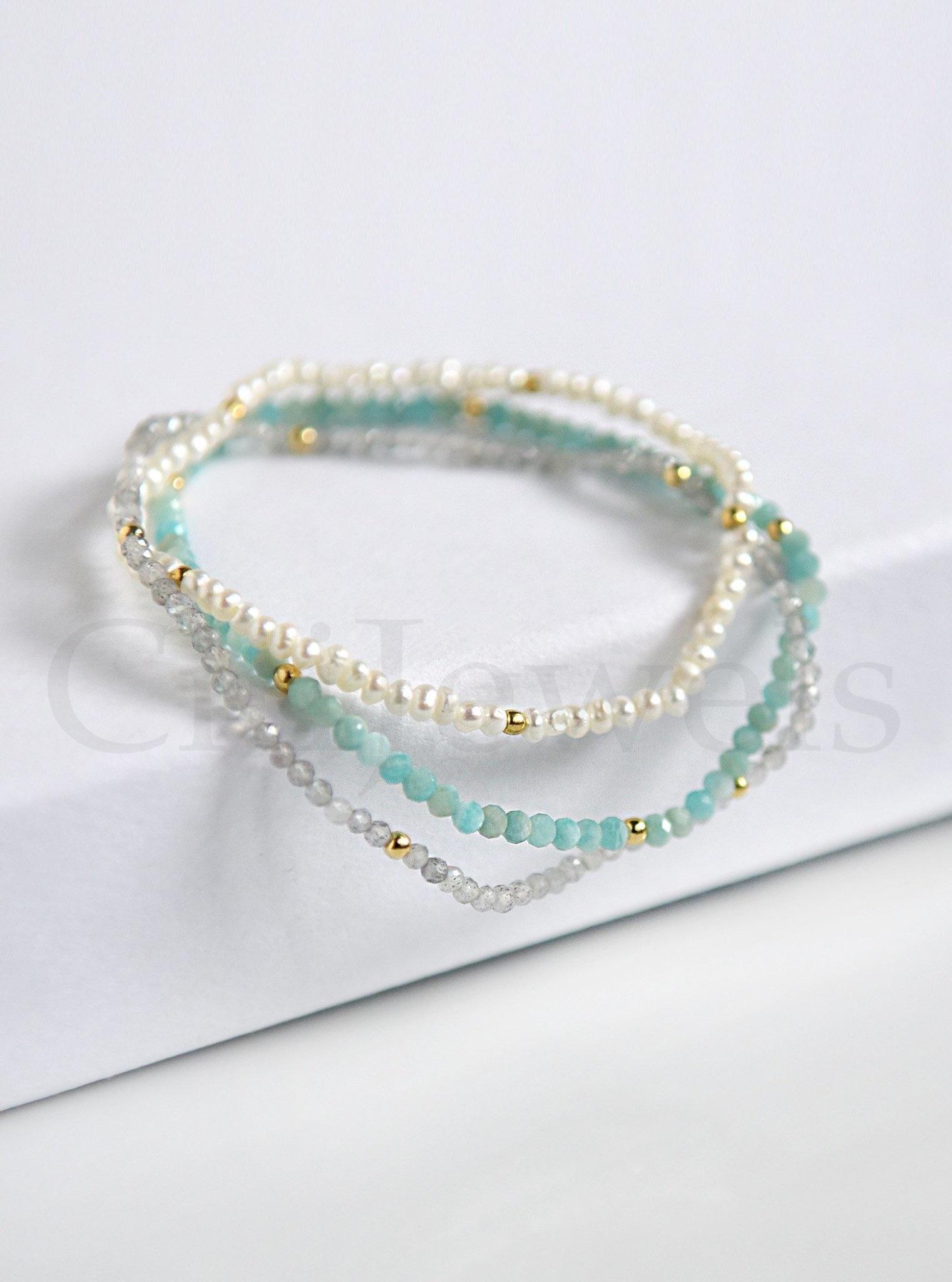 Pearl Gemstone Stretch Bracelet