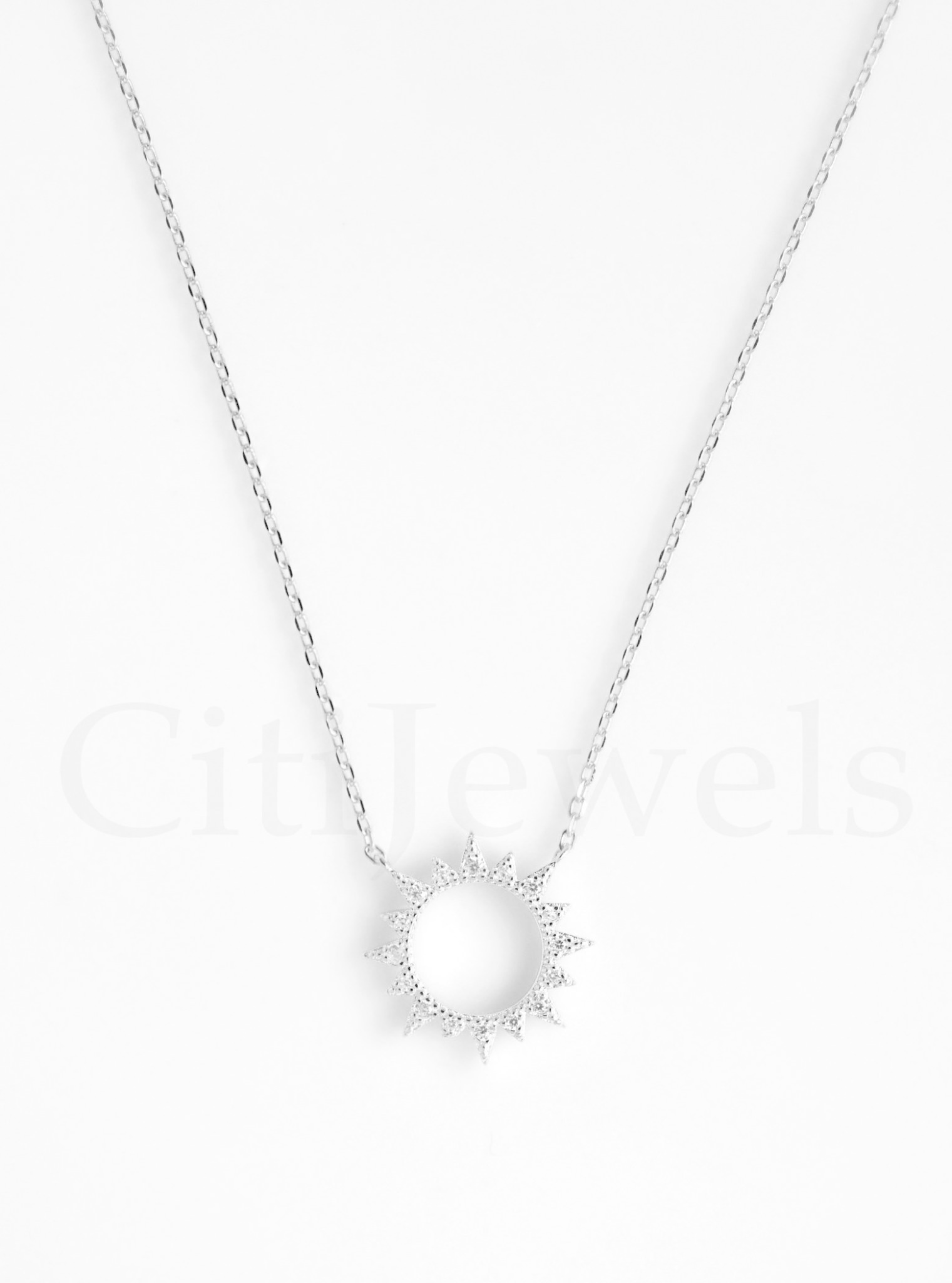 Hollow Out Sun Necklace