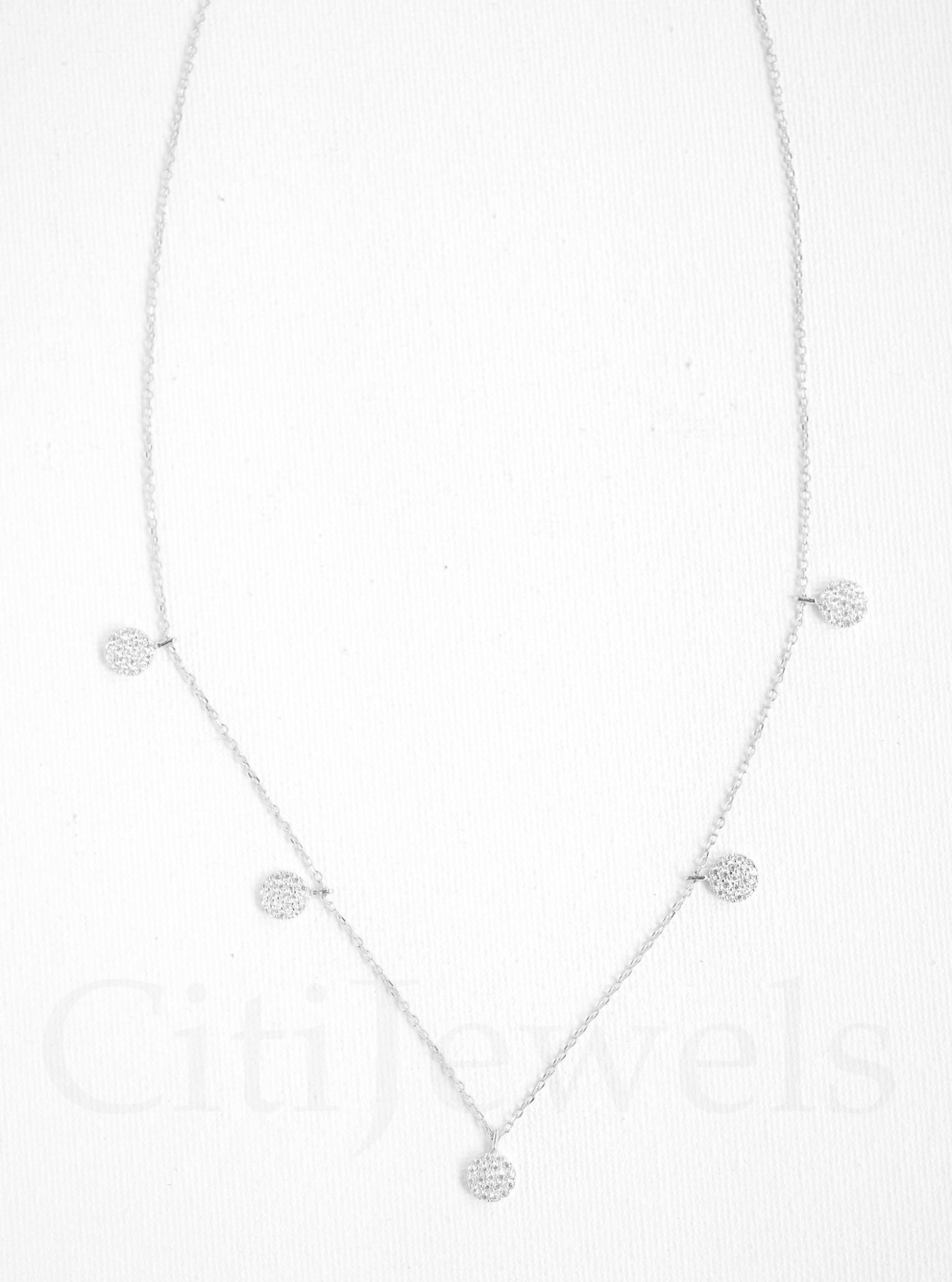 CZ Mini Disc Necklace