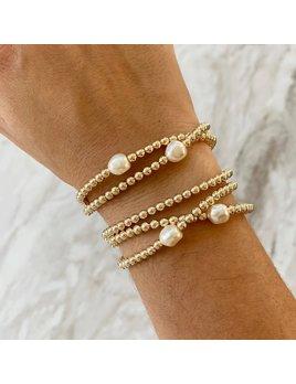 14K Gold Plated Stacking Bracelets