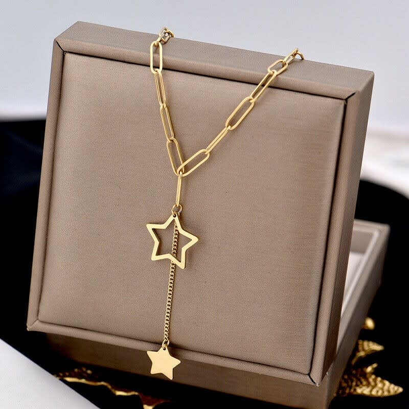 14K Gold Plated Star Necklace