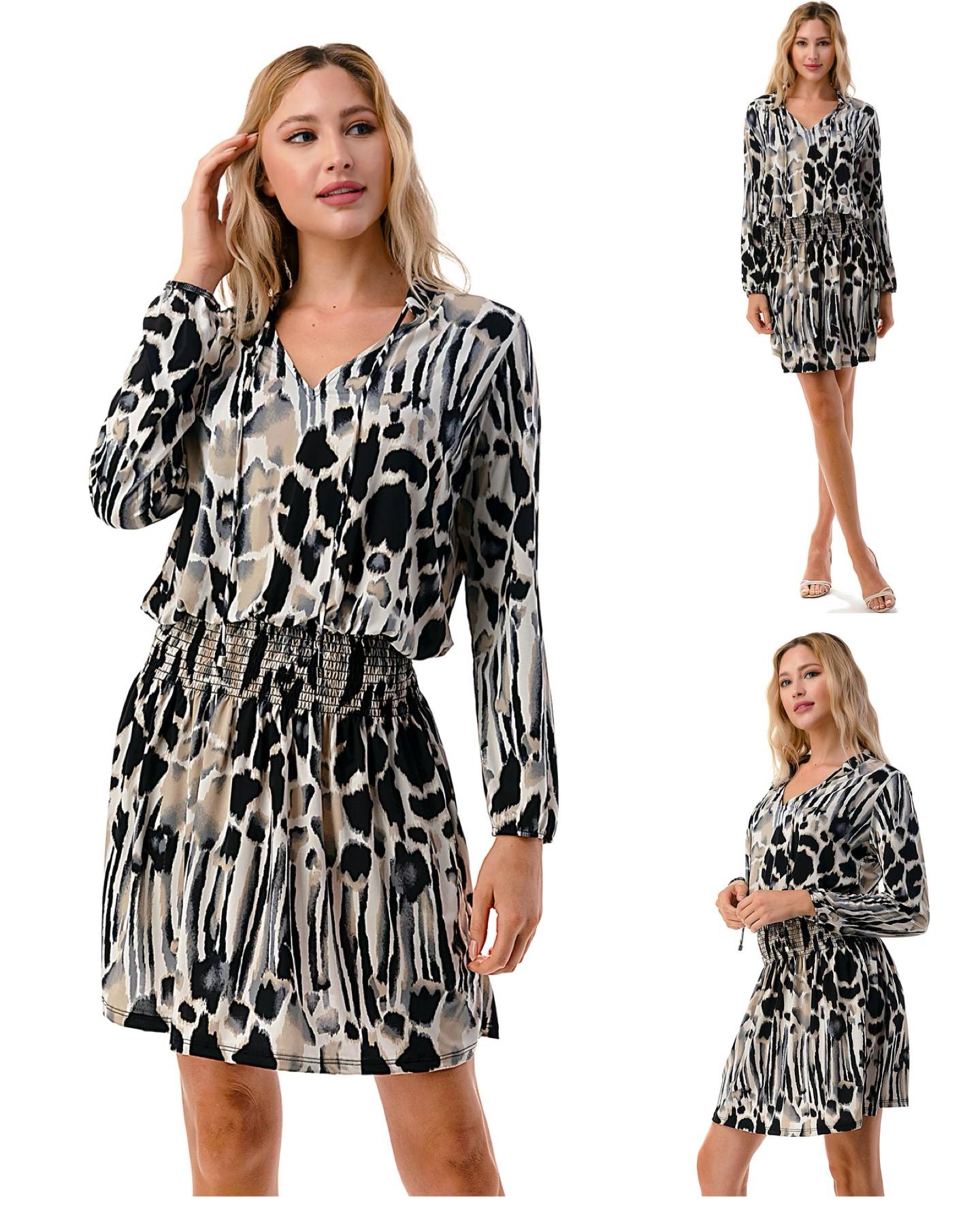 Smocking Detail Dress