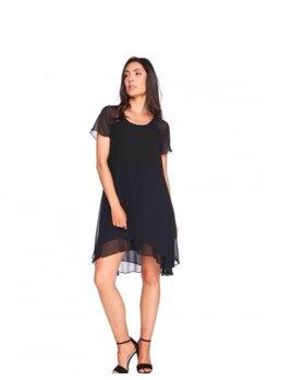 Chiffon Ruffle Bottom Dress