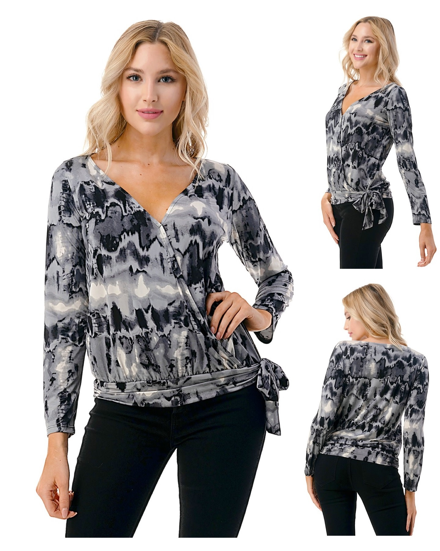 Wrap top with Side Tie Detail