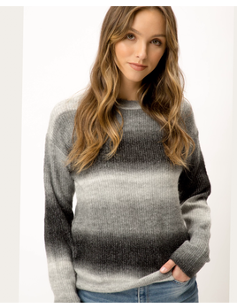 Multi Stripe Round Neck Sweater