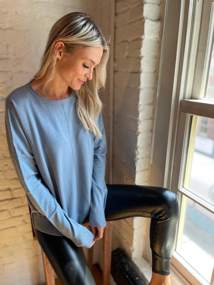 Front Seam Pullover Sweater