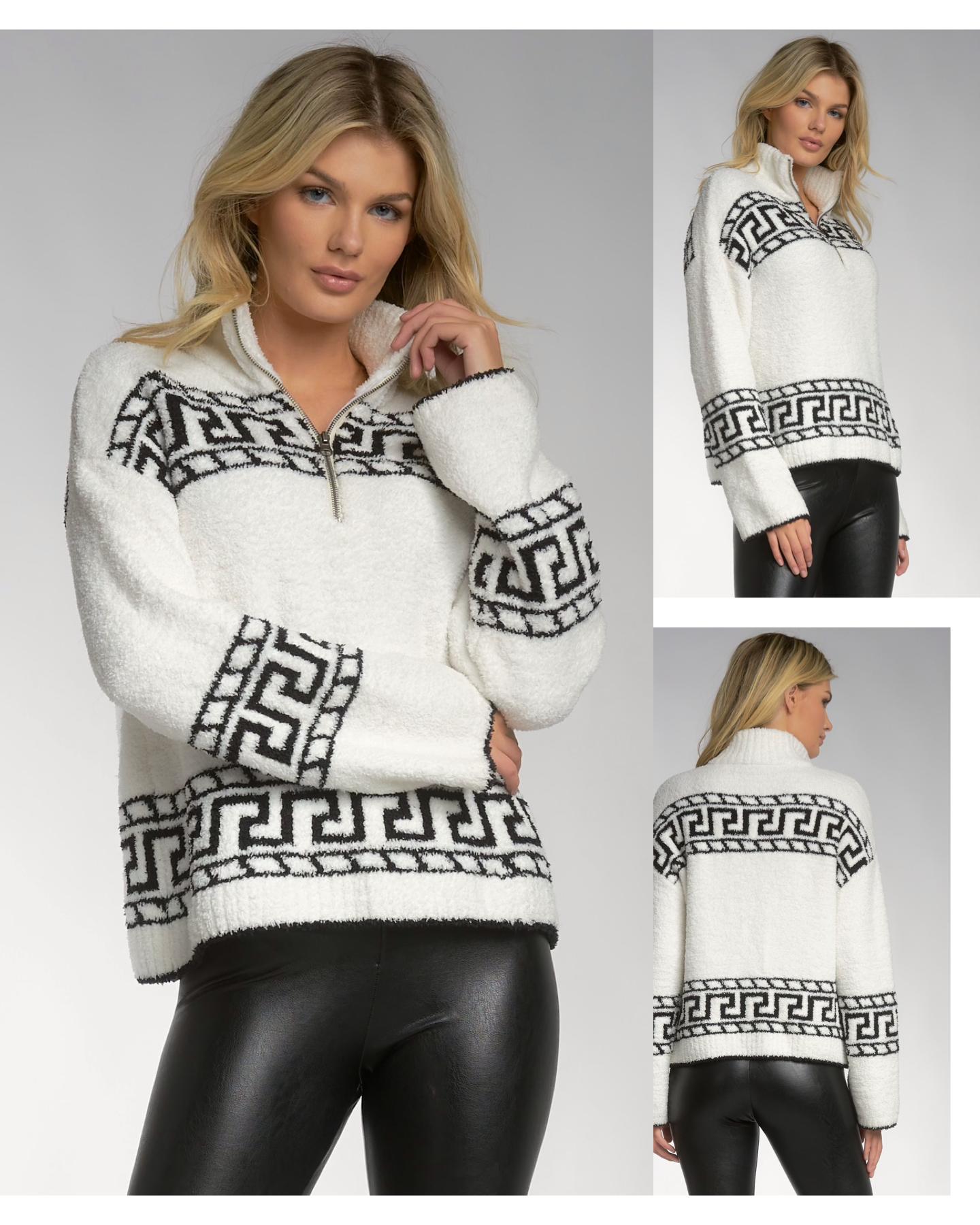 Aztec Zipper Sweater