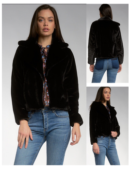 Fur Jacket with Lapel
