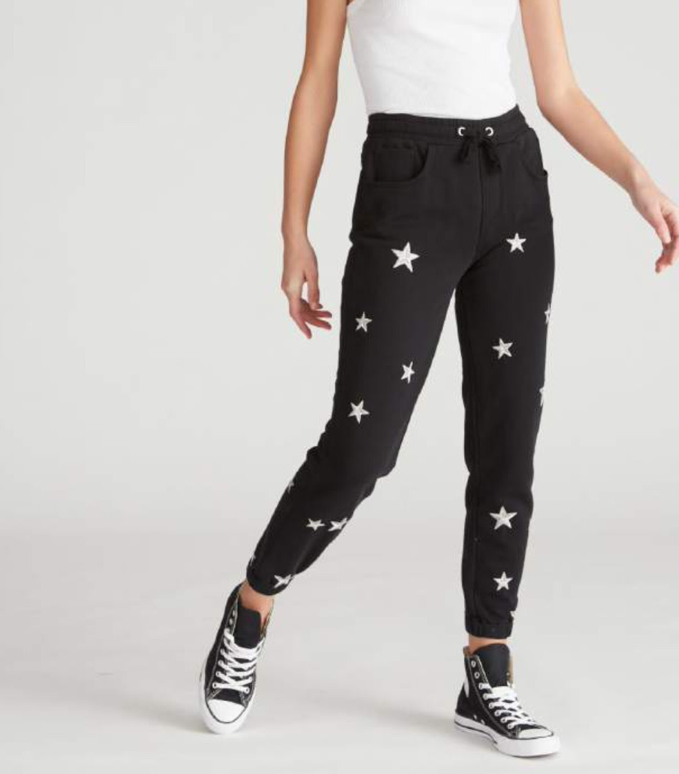 Jogger with White Stars