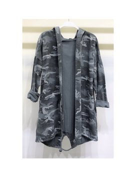 Camouflage Hooded Cardiagn