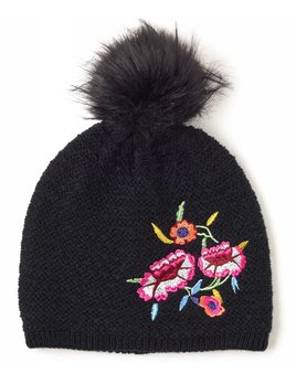 Embroidered Beenie Hat