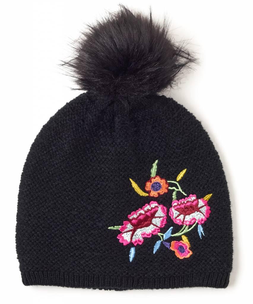 Embroidered Beenie Hat