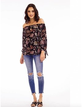 Off Shoulder Floral Print Top