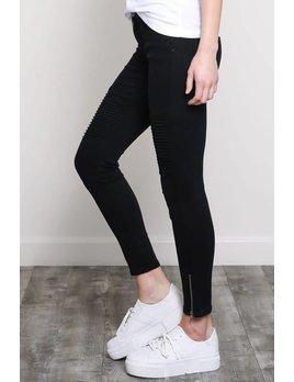 Denim Skinny Moto Jeans