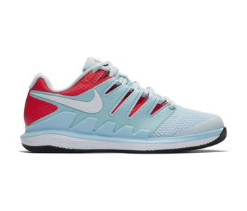 Nike Women's Air Zoom Vapor X HC Blue/White Tennis Shoes