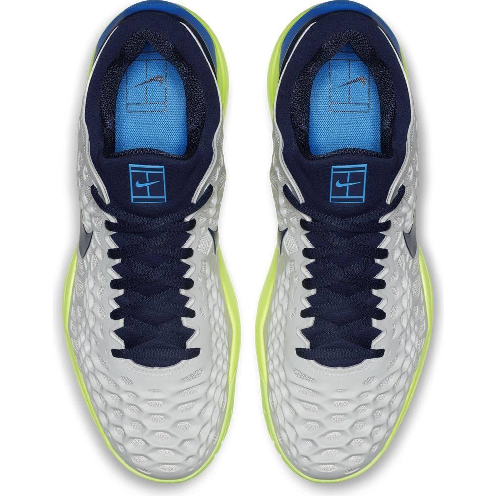 8baab9dedeeea Zoom Cage 3 HC Grey Blackened Blue Men s Shoe - Tennis Topia - Best ...