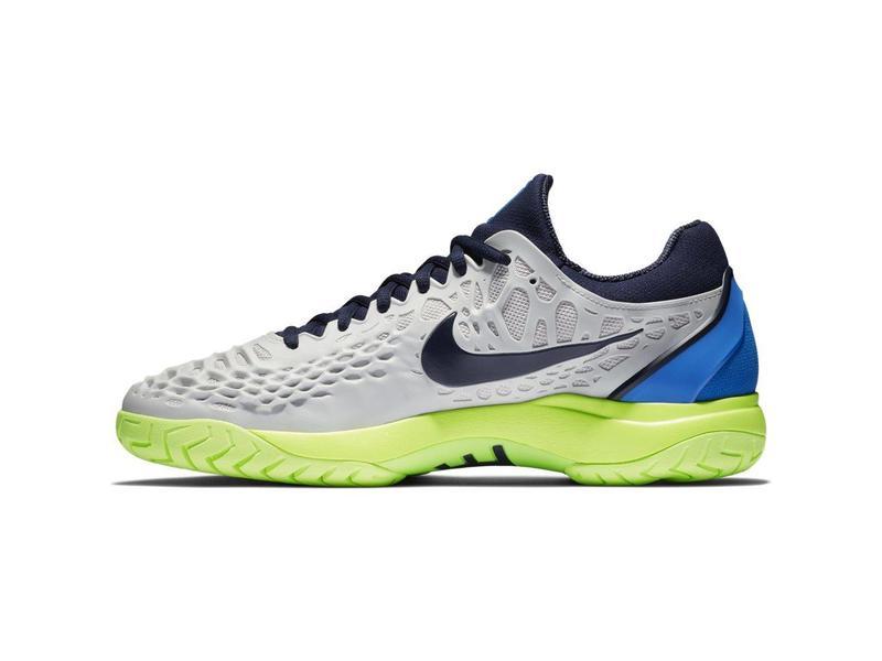 Nike Men's Zoom Cage 3 Tennis Shoe Vast Grey/Blackened Blue