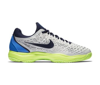 Nike Men's Zoom Cage 3 Tennis Shoe Vast Grey/Blackened Blue