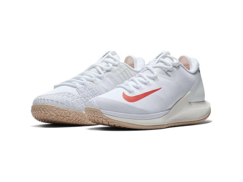 Nike Women's Court Air Zoom Zero Tennis Shoe White/Phantom