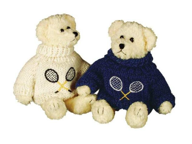 Teddy Bear w/ Tennis Knit Sweater