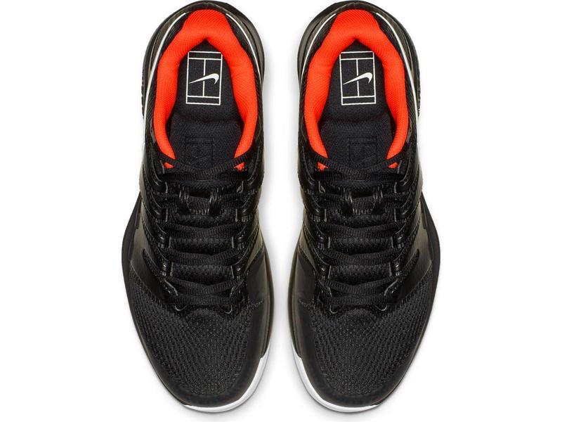 Nike Zoom Vapor X HC Black/Crimson Men's Tennis Shoes