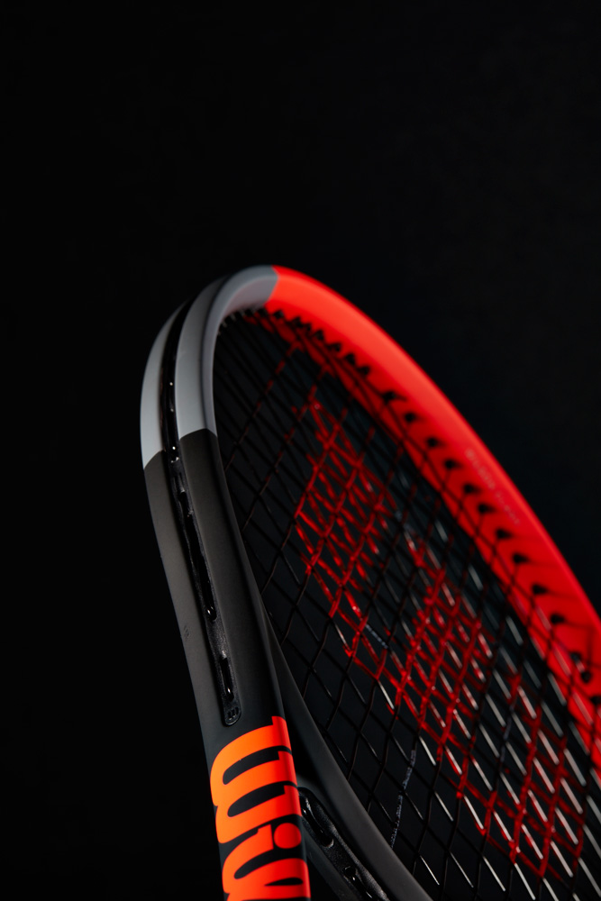Wilson Clash 100 Tennis Racquet Rear View